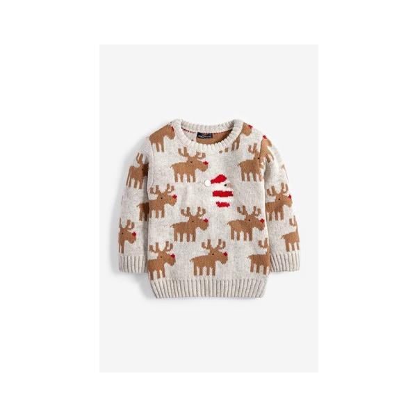 ネクスト ベビー NEXT ベージュ クリスマス トナカイ サンタクロース セーター ニット 長袖 子供服 ベビー服 パジャマ 男の子 女の子 ユニセックス ベビーウェア|ssshop|02