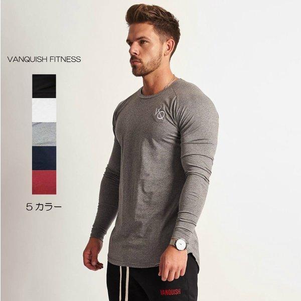 ヴァンキッシュ フィットネス VANQUISH FITNESS 長袖 Tシャツ ロングスリーブ ロンT メンズ 筋トレ ジム ウエア スポーツウェア イギリス 正規品[衣類]|ssshop