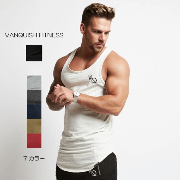 ヴァンキッシュ フィットネス VANQUISH FITNESS ノースリーブ タンクトップ メンズ 筋トレ ジム ウエア スポーツウェア イギリス 正規品[衣類]|ssshop