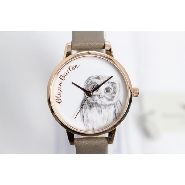 Olivia Burton オリビアバートン レディース OWL MOTIF ICED COFFEE & ROSE GOLD アイスコーヒー&ローズゴールド 腕時計 アニマル 本革 レザー ウォ