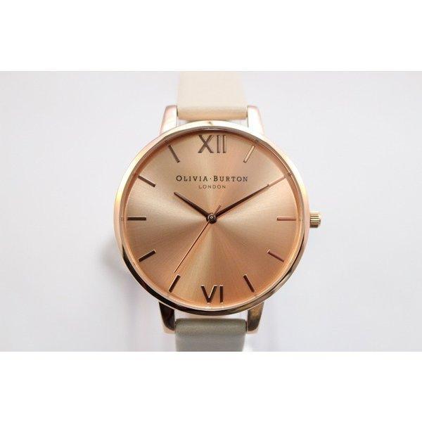 Olivia Burton オリビアバートン レディース BIG DIAL 腕時計 ビーガンフレンドリーヌード&ローズゴールド ビッグダイヤル 本革 レザー ウォッチ ク