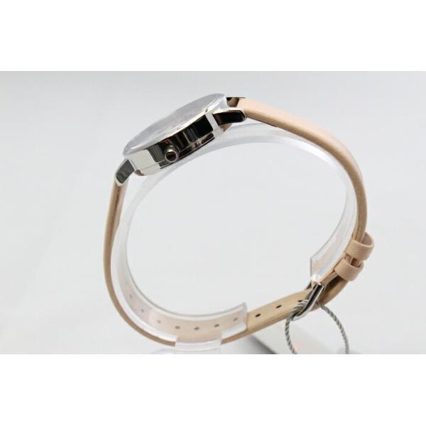 Olivia Burton オリビアバートン レディース MIDI SIGNATURE FLORAL ヌードピーチ,シルバー&ローズゴールド 腕時計 本革 レザー ウォッチ クオーツ