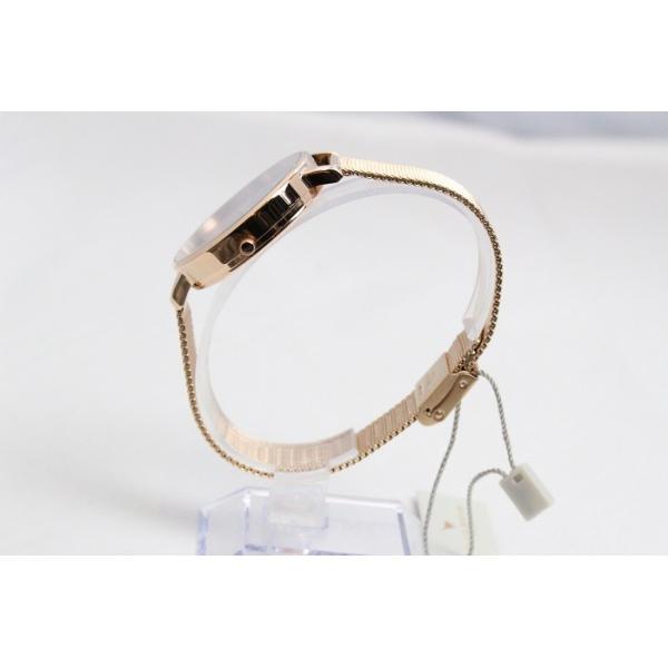Olivia Burton オリビアバートン レディース レースディティール グレー & ローズゴールド メッシュ 腕時計 ブレスレット ステンレススチール