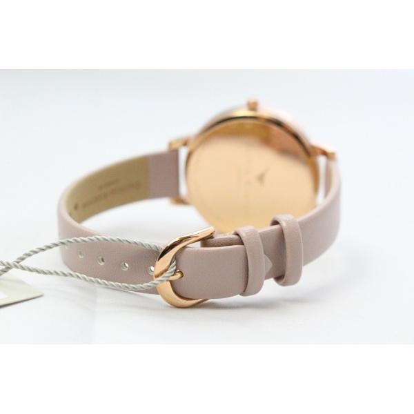 Olivia Burton オリビアバートン レディース VEGAN FRIENDLY SIGNATURE FLORAL ローズサンド&ローズゴールド 腕時計 ビッグダイヤル 本革 レザー ウ