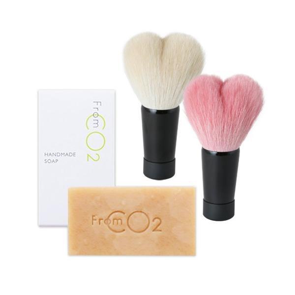 フロムCO2 ハンドメイドソープ&熊野筆 洗顔ブラシセット st-couleur