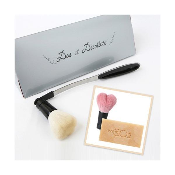 熊野筆 ボディブラシ 背中&デコルテブラシ&洗顔ブラシ&フロムCO2 ハンドメイドソープ3点セット st-couleur