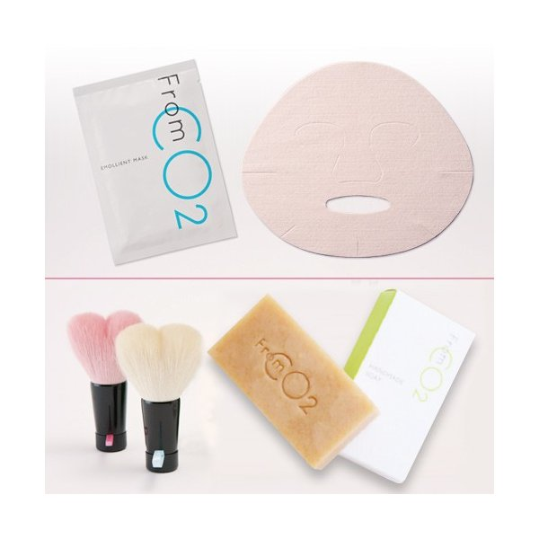 熊野筆洗顔ブラシ&ハンドメイドソープ& フロムCO2エモリエントマスク セット st-couleur