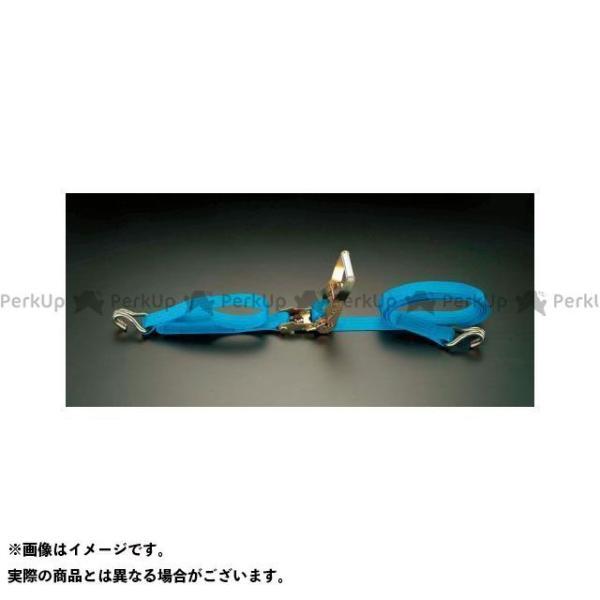 【無料雑誌付き】ESCO 作業場工具 75mmx 6.0m/2500Kg ベルト荷締機(ラチェット式) エスコ