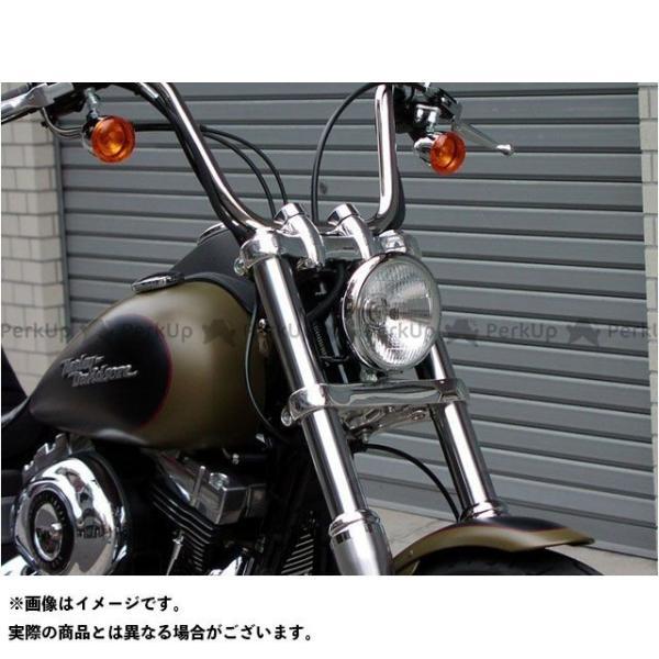 【無料雑誌付き】Tramp Cycle ハーレー汎用 ヘッドライト・バルブ バブルトップタイプ ヘッドライトレンズ(クリアレンズ) トランプ