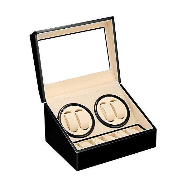 LUYINGワインディングマシーン(4本巻き+6本収納)ウォッチワインダー自動巻き時計ワインディングマシーン静音設計腕時計自動巻