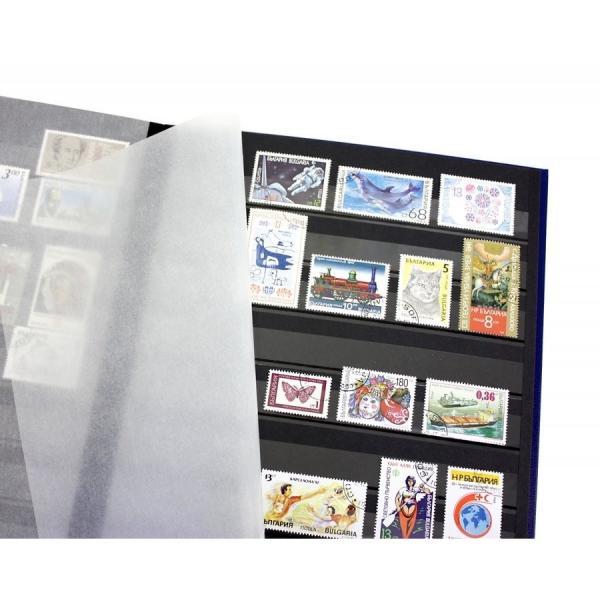 ライトハウス社 黒台紙 ストックブック / A4判-9段 / 16ページ(8枚) 緑 (切手帳・切手アルバム・切手ブック・スタンプアルバム) stamp-coin-ebisu 03