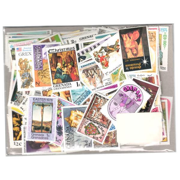 【未使用】旧英領(イギリス連邦)切手 250種 250枚(重複なし)詰め合わせ|stamp-coin-ebisu
