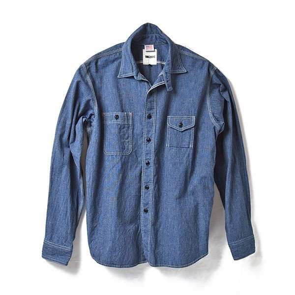 Classic Work Shirts Fether Indigo Blue|standardstore