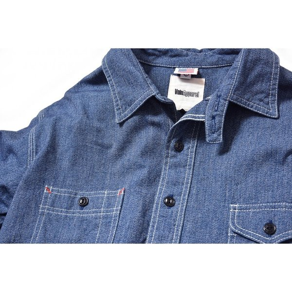 Classic Work Shirts Fether Indigo Blue|standardstore|03