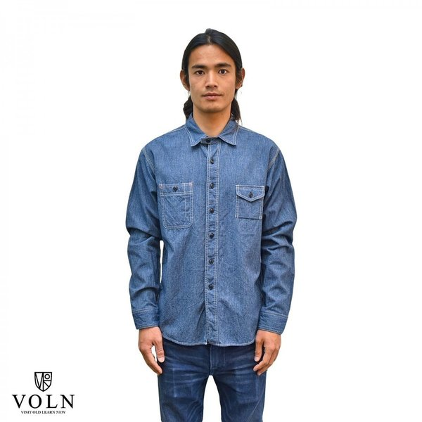 Classic Work Shirts Fether Indigo Blue|standardstore|04