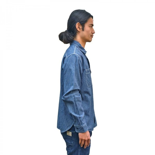 Classic Work Shirts Fether Indigo Blue|standardstore|05