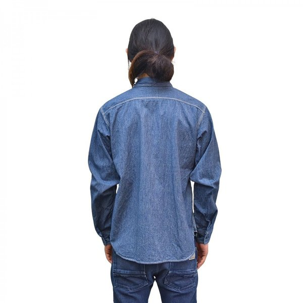 Classic Work Shirts Fether Indigo Blue|standardstore|06