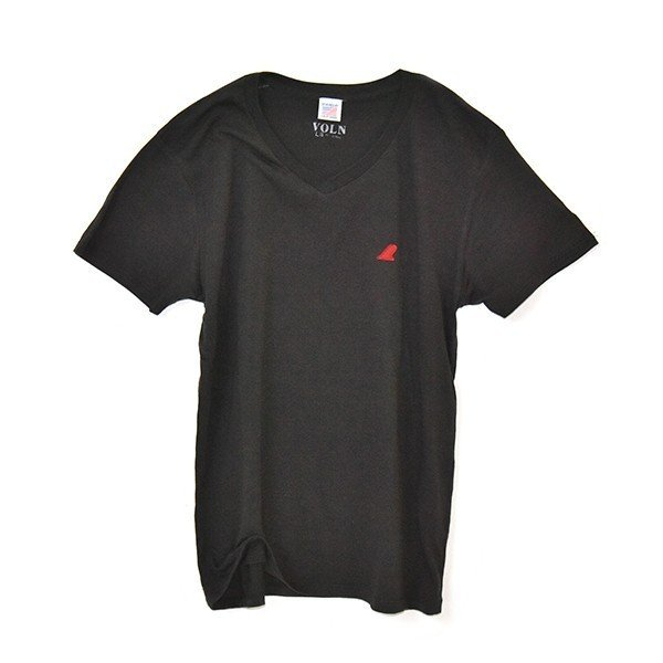 VOLN/RedFin /V Neck Tee /Black|standardstore