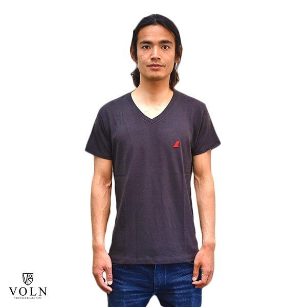 VOLN/RedFin /V Neck Tee /Black|standardstore|02