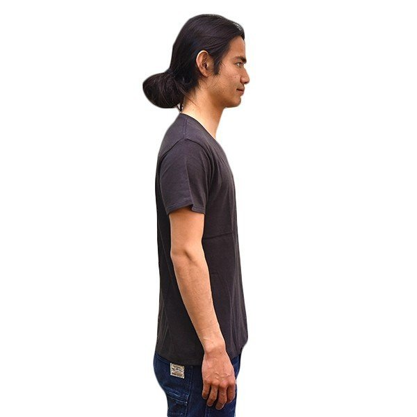 VOLN/RedFin /V Neck Tee /Black|standardstore|03
