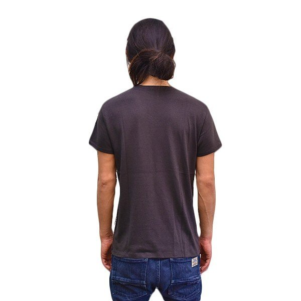 VOLN/RedFin /V Neck Tee /Black|standardstore|04
