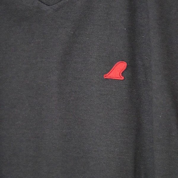 VOLN/RedFin /V Neck Tee /Black|standardstore|05