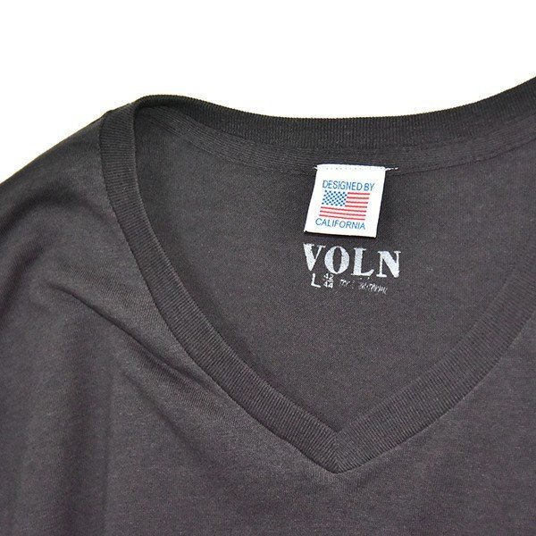 VOLN/RedFin /V Neck Tee /Black|standardstore|06
