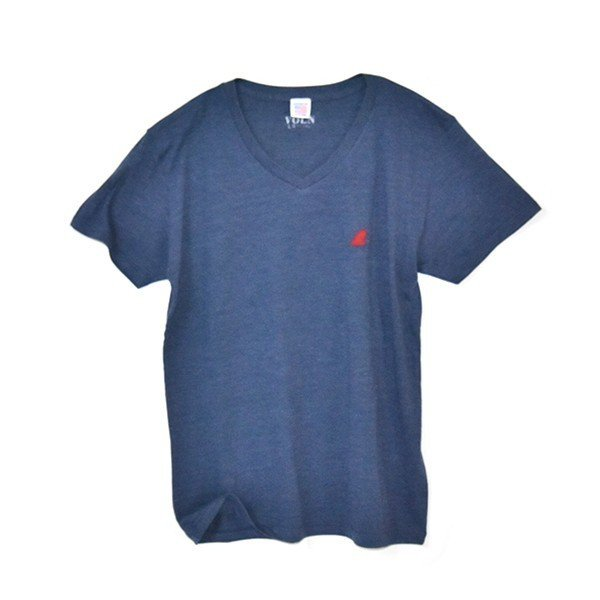 VOLN/RedFin /V Neck Tee /Heather Navy|standardstore|01