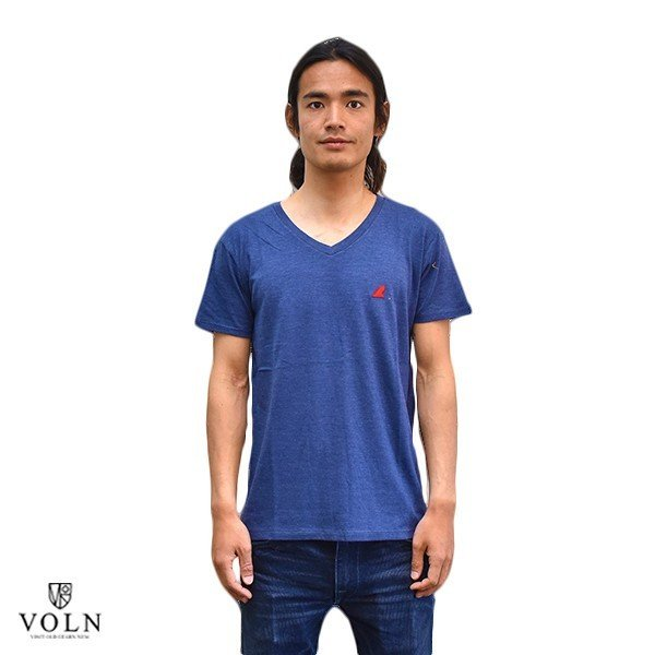 VOLN/RedFin /V Neck Tee /Heather Navy|standardstore|02