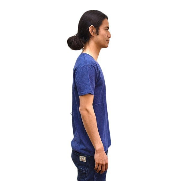 VOLN/RedFin /V Neck Tee /Heather Navy|standardstore|03