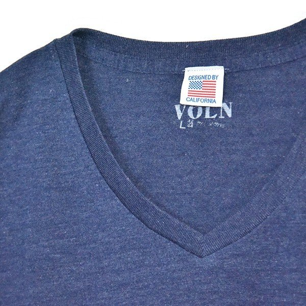 VOLN/RedFin /V Neck Tee /Heather Navy|standardstore|06