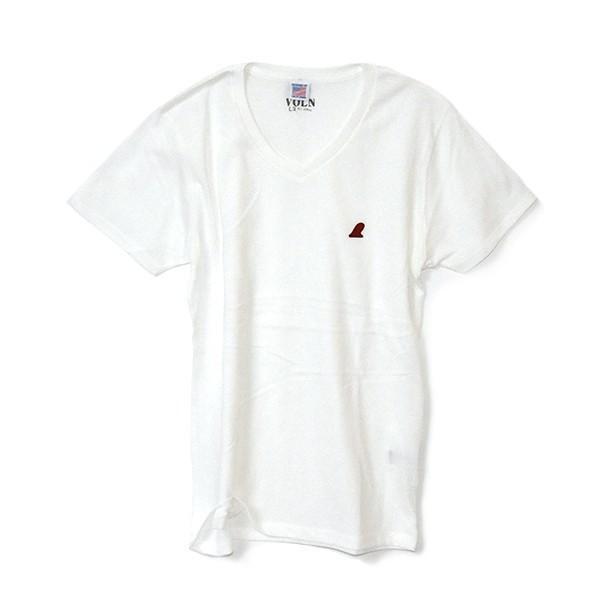 VOLN/RedFin /V Neck Tee /WHITE|standardstore