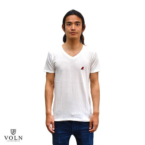 VOLN/RedFin /V Neck Tee /WHITE|standardstore|02