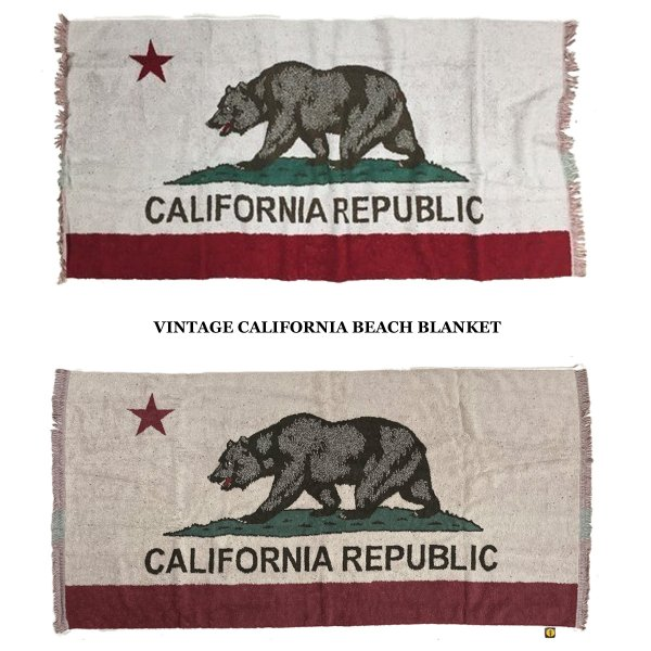 VINTAGE CALIFORNIA  BEACH BLANKET 今治タオル|standardstore|01