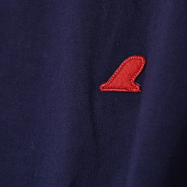 VOLN / CREW NECK T-SHIRT / RED FIN / NAVY|standardstore|05