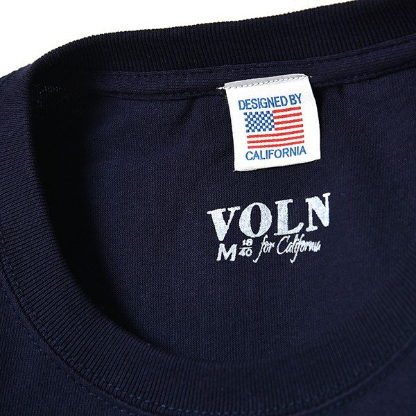 VOLN / CREW NECK T-SHIRT / RED FIN / NAVY|standardstore|06