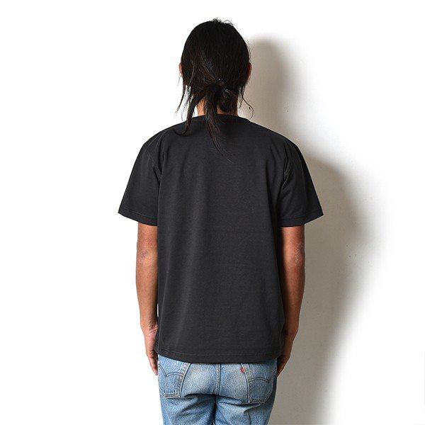 VOLN / CREW NECK T-SHIRT / RED FIN / SUMI BLACK|standardstore|04