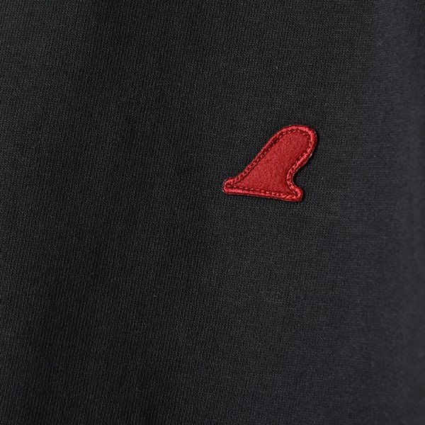 VOLN / CREW NECK T-SHIRT / RED FIN / SUMI BLACK|standardstore|05