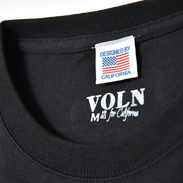 VOLN / CREW NECK T-SHIRT / RED FIN / SUMI BLACK|standardstore|06