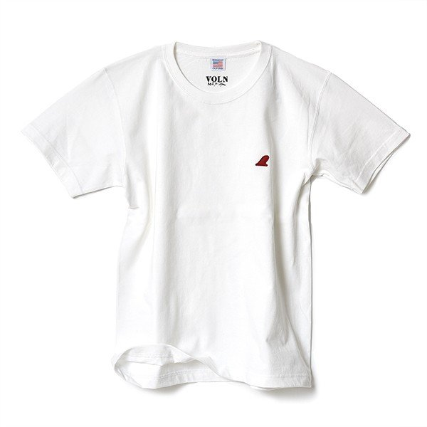 VOLN / CREW NECK T-SHIRT / RED FIN / WHITE|standardstore