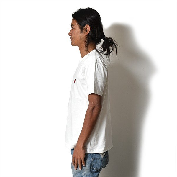 VOLN / CREW NECK T-SHIRT / RED FIN / WHITE|standardstore|03