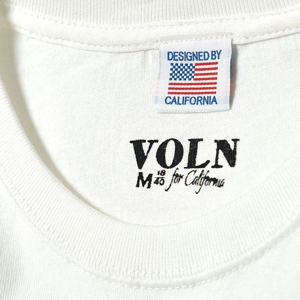 VOLN / CREW NECK T-SHIRT / RED FIN / WHITE|standardstore|06