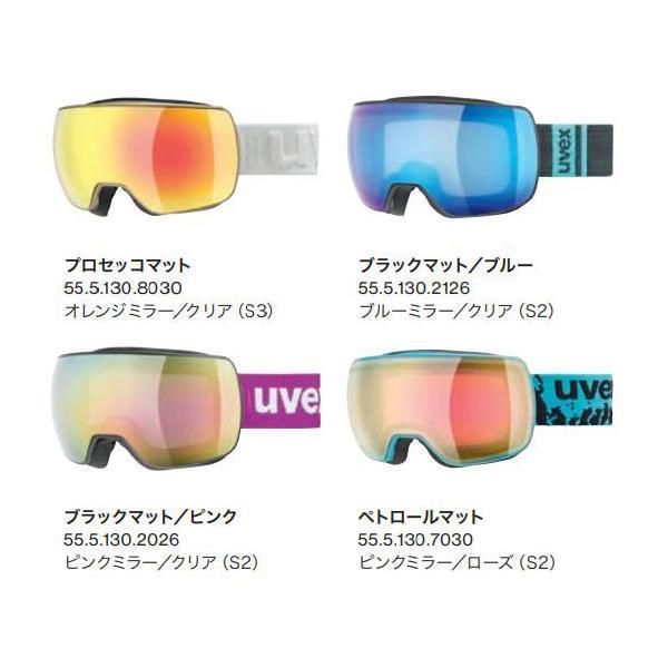 20-21 uvex ウベックス  uvex compact FM 555130  コンパクト FM ゴーグル スキー スノーボード  フレームレスデザイン アジアンフィット*