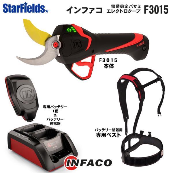 インファコ エレクトロクープ 電動 剪定バサミ F3015|star-fields
