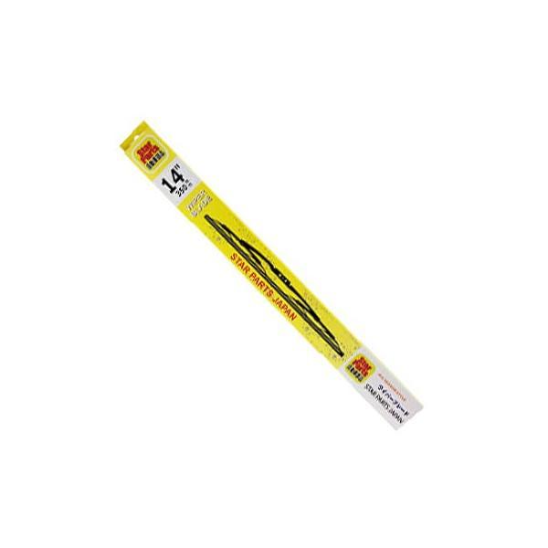 グラファイトワイパーブレード (6mmx350mm) Uクリップタイプ用 プライベートブランド高品質