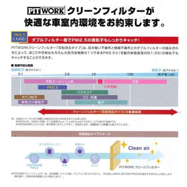ピットワーク エアコンフィルター クリーンフィルター 日産 デイズルークス B21A用 AY684-NS025-01 花粉対応タイプ PITWORK|star-parts|02