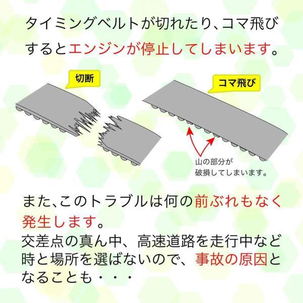 タイミングベルトセット 三菱 ekワゴン H81W H82W H13.09〜H22.04用 4点セット star-parts 05