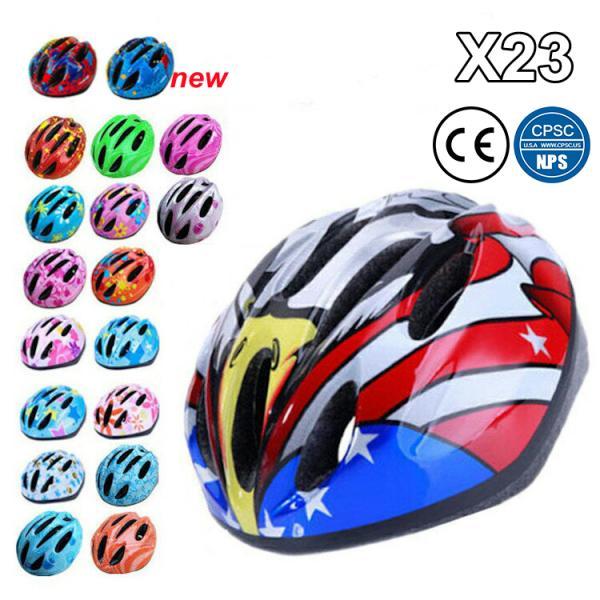ヘルメットキッズ子供用おしゃれ自転車用キッズヘルメット通学ジュニアサイクルヘルメット48-58cmMサイズダイヤル調整軽量