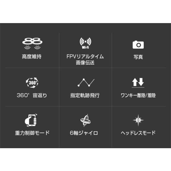 ドローン カメラ付き 初心者 小型 空撮 高画質 ラジコン スマホ FPV WIFI 宙返り LED付き SYMA X15W 4CH 6軸 100万画素 日本語説明書付|star-stores|05