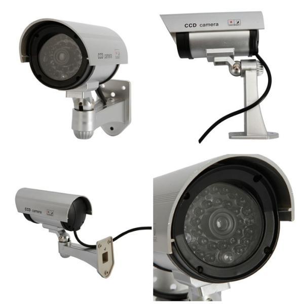 ダミー防犯カメラ 屋外用 防水 防犯カメラ ダミー 簡単設置 本物そっくり LED点滅 監視カメラ 配線不要 屋内|star-stores|04